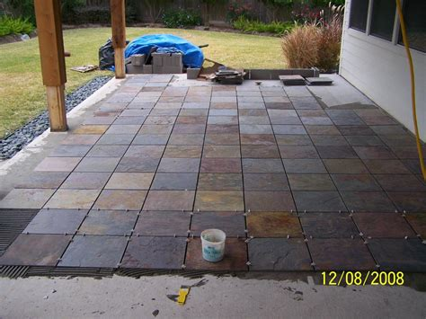 backyard tile outdoor patio flooring options trim paint and new