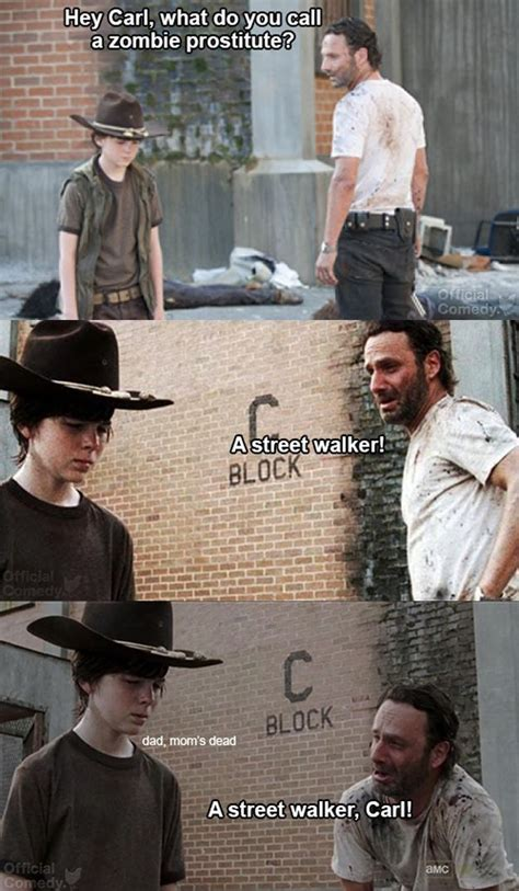 Rick Carl Memes - hilarious dad jokes from the walking dead s rick grimes