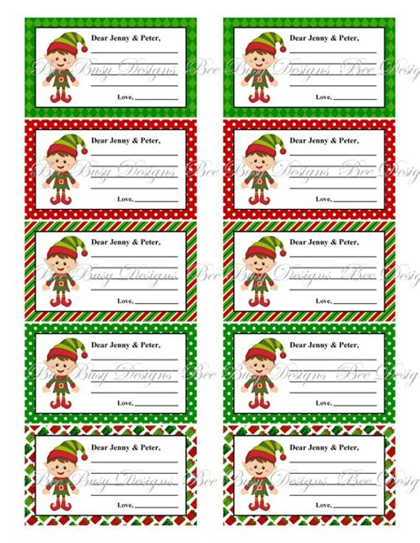 printable elf on the shelf items personalized printable elf notes elf on the shelf and