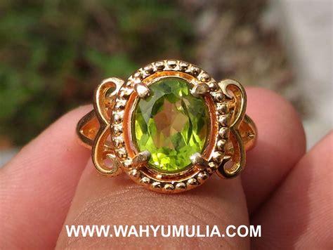 Cincin Batu Akik Permata Peridot batu cincin permata warna hijau peridot cewek kode 493
