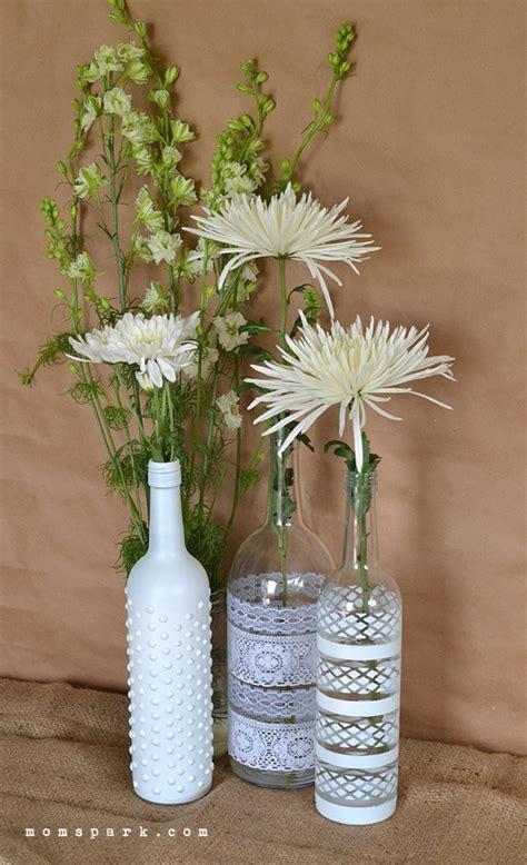boho wine bottle vase centerpiece diy spark