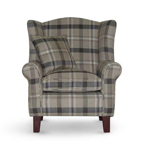Tartan Chair Neyland Biscuit Tartan Wingback Chair Sloane Sons