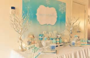 How To Set Table Silverware Frozen Winter Wonderland Candy Buffet Ideas Little