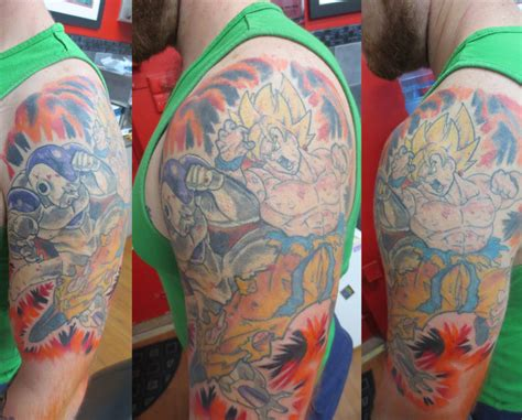 dragon ball z tattoo sleeve z sleeve by stickytounge on deviantart