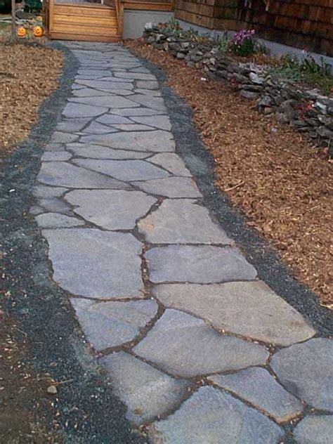 flagstone walkway outdoor life pinterest