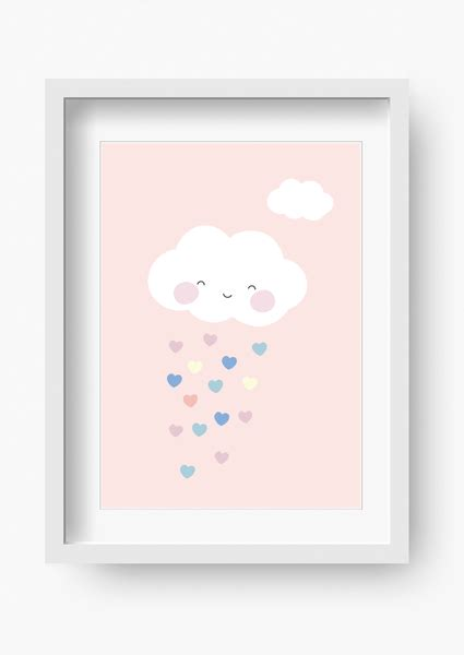 bild kinderzimmer rosa bilder kinderzimmer poster kinderbild wolke rosa