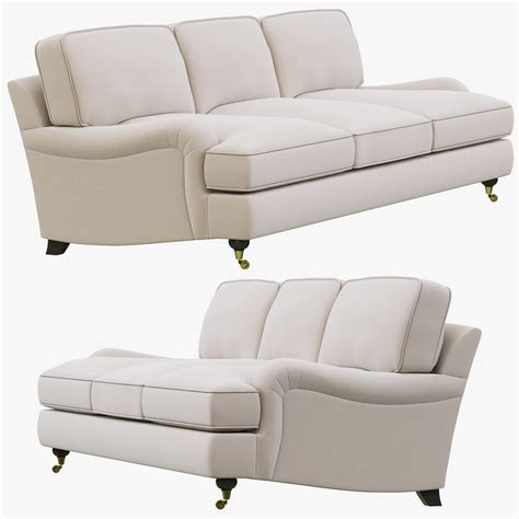 english roll arm sectional sofa 3d model restoration hardware english roll