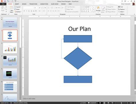 draw flowchart in powerpoint how to create flowcharts in powerpoint 2013 dummies