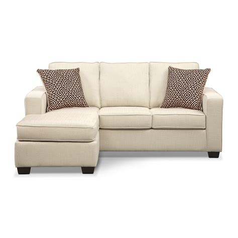 Sterling Innerspring Sleeper Sofa With Chaise Beige Sofa Sleeper With Chaise