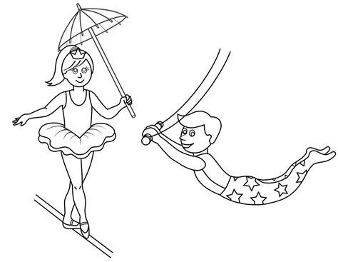 imagenes para dibujar que enamoran dibujos de equilibristas de circo para pintar colorear