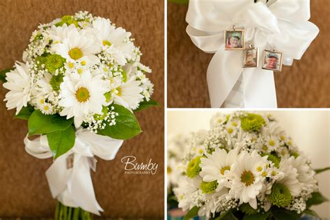 Wedding Bouquet Of Daisies by Inspired Wedding Bouquet Orlando Wedding Photographer