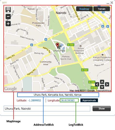 App Layout Map | wpf map app wpf meets google geocoding static maps apis