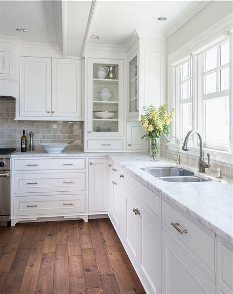 White Kitchen Cabinets Wood Floors White Kitchen With Inset Cabinets Home Bunch Interior