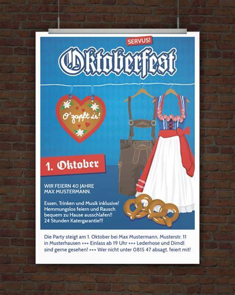 Muster Einladung Oktoberfest Drucke Selbst Vorlage Einladung Oktoberfest
