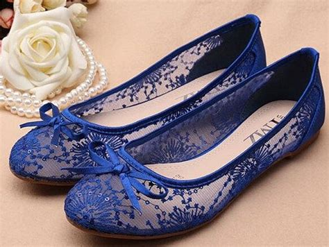 Lace Wedding Flats by Blue See Through Lace Flats Shoes Lace Bridal Flats