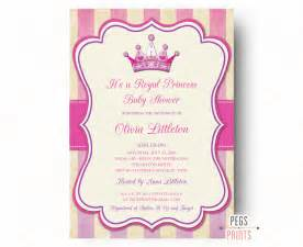 Princess Baby Shower Invitation Templates Free by Royal Princess Baby Shower Invitation Printable Princess