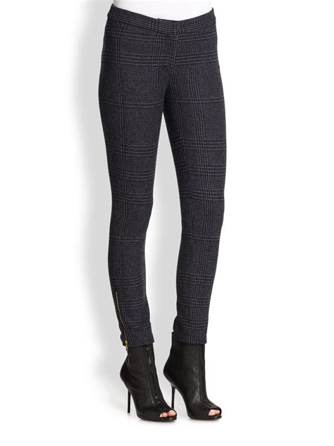 navy patterned jeans burberry brit patterned anklezipper pants in blue deep