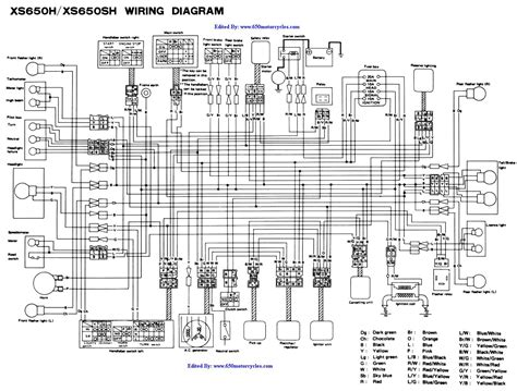 yamaha 650 wiring diagram yamaha free engine image for