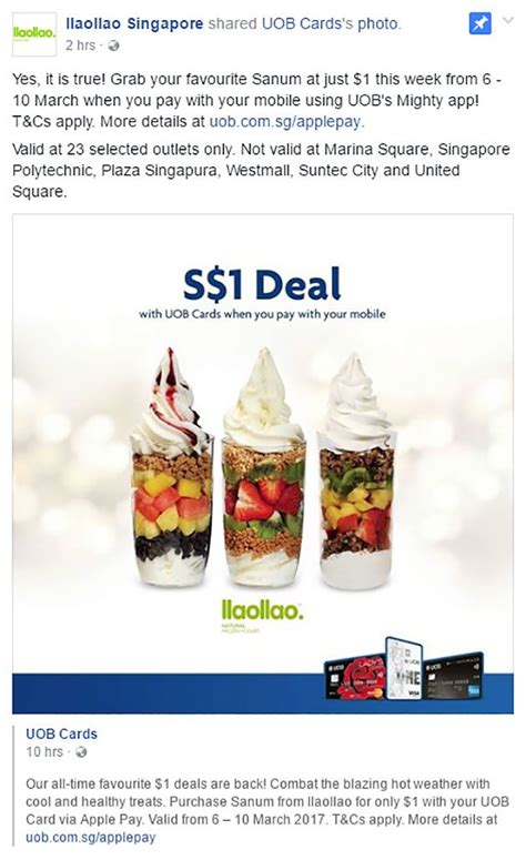 uob singapore new year promotion omg enjoy llaollao sanum at just 1 with uob mighty app