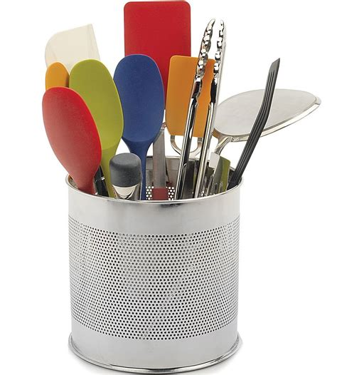 kitchen utensil holder stainless steel utensil caddy in kitchen utensil holders