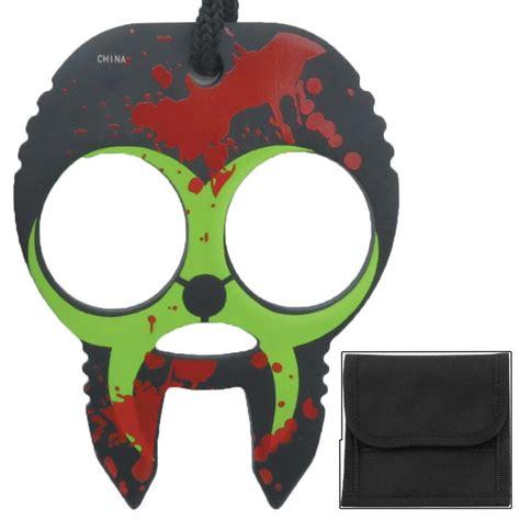 zombie skull 2 finger knuckle clobbering skull 2 finger self defense knuckles black