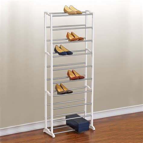 6 tier storage shoe rack 24 pair shoe organizer stackable space saving bedroom ebay lynk 30 pair shoe rack 10 tier shoe shelf organizer white target