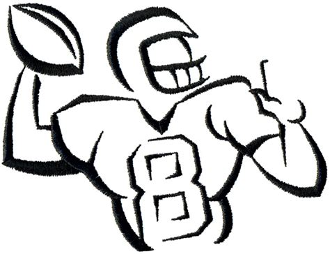 Sports Player Outline by Football Outline Free Clip Free Clip On Clipart Library