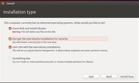 ubuntu manual encrypted lvm how to install ubuntu 14 04 desktop with encrypted lvm