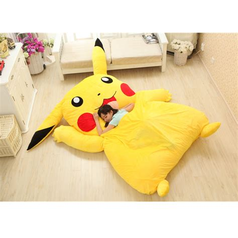 pikachu bed anime pokemon pikachu stuffed large cartoon japanese bed