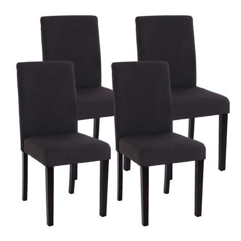 chaise tissu salle a manger lot de 4 chaises de salle a manger tissu noir achat