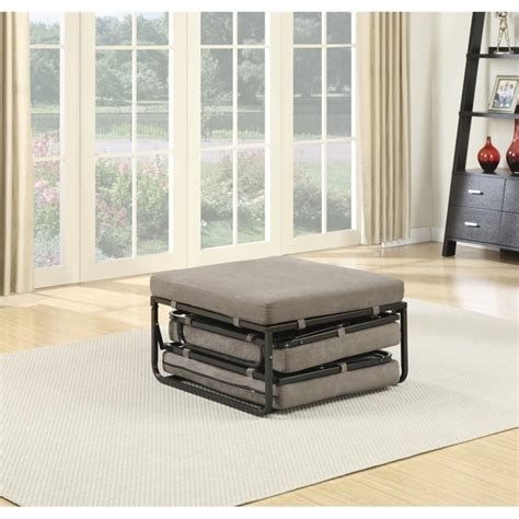 folding twin bed ottoman twin folding bed ottoman in taupe 143709