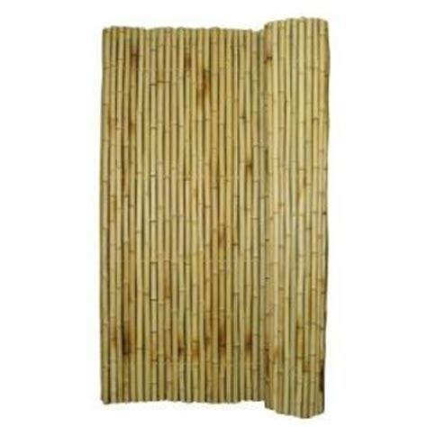 home depot backyard x scapes rolled bamboo fence wood