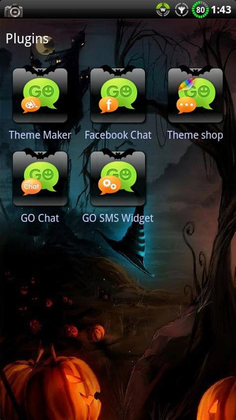 go themes store halloween go sms theme android apps on google play
