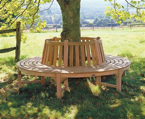 circular garden bench tree seat round circular teak bench