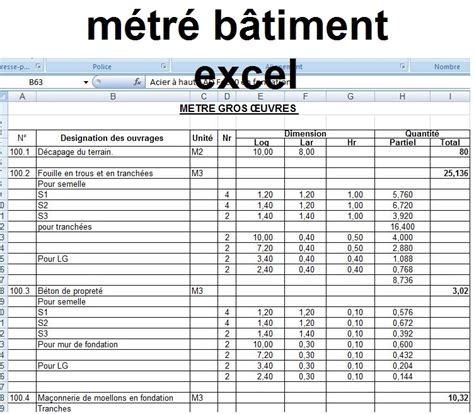 Modele Devis Excel Batiment