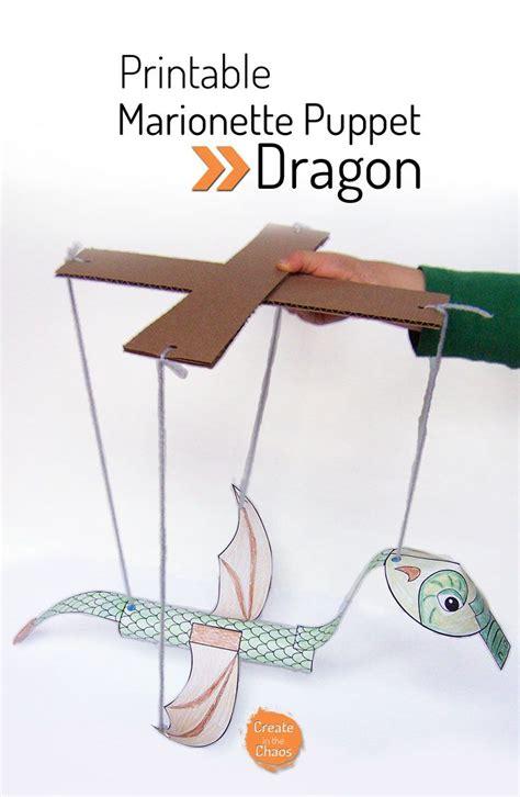 printable paper dragon printable dragon marionette puppet marionette puppet