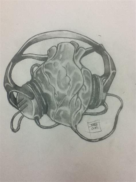 heartbeat headphones tattoo heart and headphones by jakkinoir on deviantart
