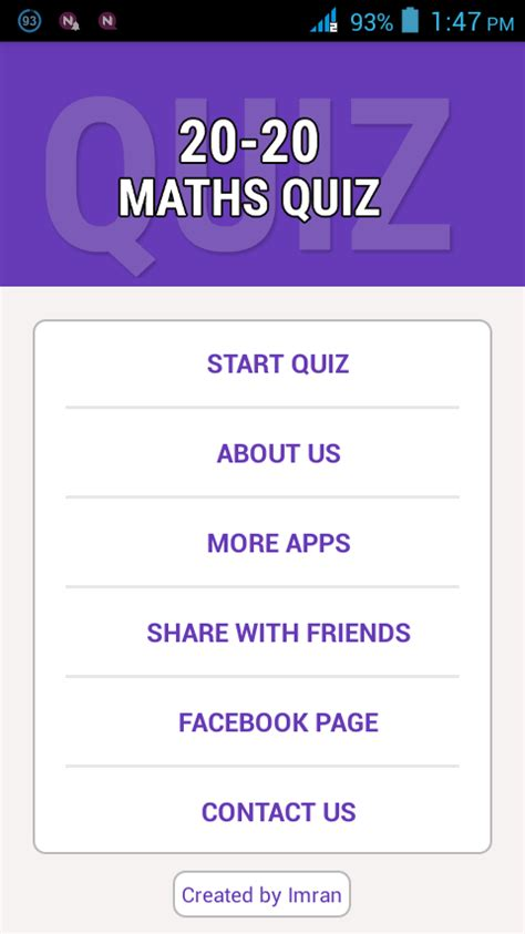 quiz questions related to maths 20 20 maths quiz android apps on google play