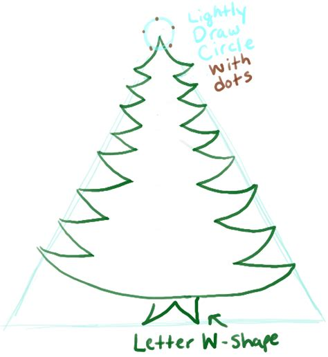 how to draw a christmas tree with gifts presents under