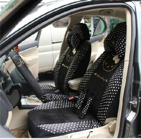 Carset 18 In Hello free shipping 18 woolly water jade dot black hello car seat covers the four seasons