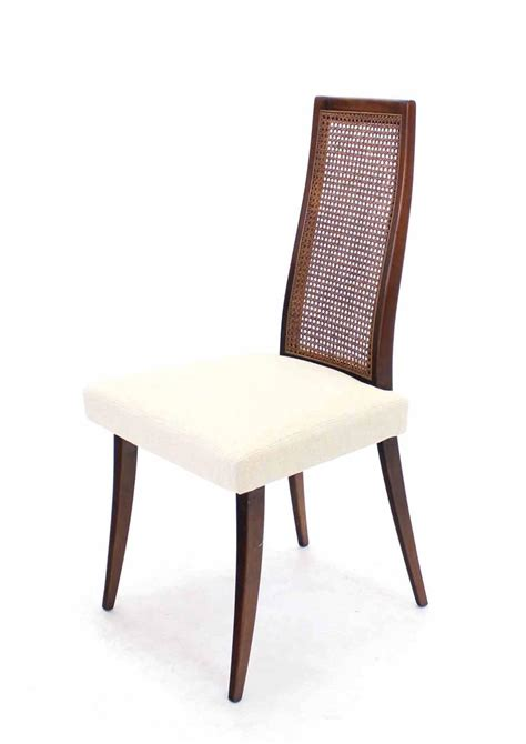 Set Of Six Harvey Probber Dining Chairs New Linen Linen Dining Room Chairs