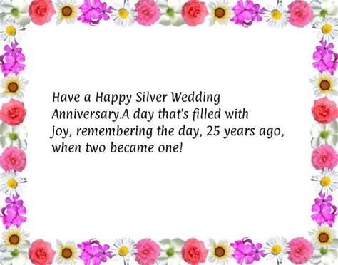 Wedding Anniversary Wishes Silver Jubilee by Warm Wishes For Silver Jubilee Anniversary