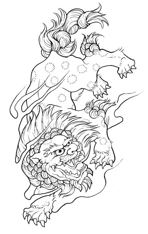 japanese foo dog tattoo designs ajke tell a foo design
