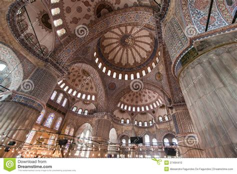 Blue Mosque Ceiling by Blue Mosque Ceiling Istanbul Turkey Stock Photo Image