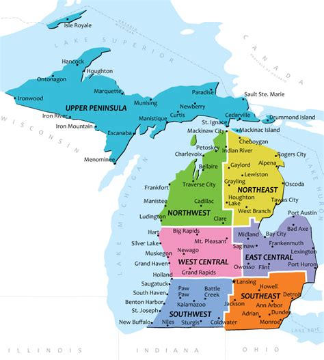 michigan map with cities best photos of map of michigan cities and towns michigan