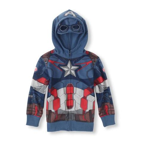Hoodie Anak Anak Captain America give him the look of a soldier with this captain america hoodie from the children s place