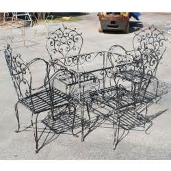 wrought iron patio furniture vintage furniture images about wrought iron furniture on retro