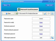 Torrent excel 2010 password recovery | Top 4 Tools to ... Excel Worksheet Password Cracker