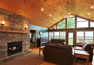 vaulted great room great room with cathedral ceiling wall of windows