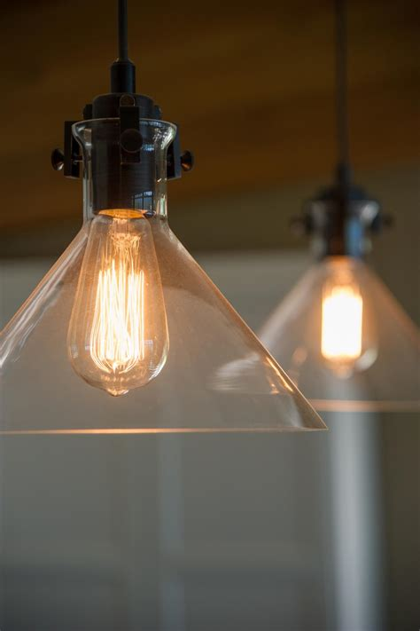 Cabin Pendant Lights Conical Pendant Lights Recipes Are Easy To Follow The Soft Glow Of Edison Bulbs In Glass